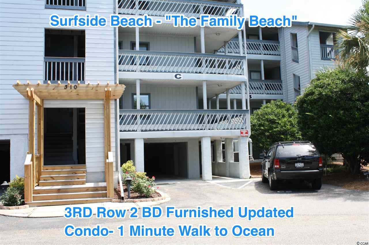 "Located just 2 Blocks from the ocean in Surfside ""The Family Beach"", this UPDATED 2 Bedroom, 2 Bath beach 3rd floor (top unit/no one above) condo comes fully furnished, has a large balcony overlooking the pool, Gazebo, Myrtle Lake, and is Move-in ready! RARE FIND - THESE UNITS DON'T GO UP FOR SALE OFTEN!  Whether you are looking to float around in the pool all day or relax on the sandy beach just a minute away, you will enjoy the quiet & quaint area of The Hermitage. The master bedroom has its own private bathroom, spacious living and dining areas with views of the lake, & a full laundry room w/storage closet. Living area has beautiful,modern easy-to-maintain flooring & has been freshly painted. HVAC is ONLY 4 years old. Recently updated with NEW ceiling fans & kitchen lights, mattresses/box springs, NEW televisions, NEW window treatments, NEW bunk beds and a NEW washer & dryer. Tons of storage space (interior closets & outdoor storage room on main level). Designated owner parking & just a 1 minute walk to the great Atlantic Ocean (3rd Row Location). ""The Hermitage"" HOA includes Insurance, water/sewer, Trash, Lawn Maintenance, Cable TV, and Internet Access. Although, this condo has never been rented, you can rent this weekly when you are not using it to subsidize the ownership of your vacation home. Other nearby amenities include Golfing, Dining, Entertainment, Water Parks, the Surfside Pier, Deep Sea Fishing, Shopping, and medical facilities. If you have always dreamed of owning a place at the beach in a quiet relaxed area where you can hear the sound of crashing waves, this is the perfect place for you- nothing to do but pack a bathing suit and begin YOUR life at ""The Family Beach""!!!"
