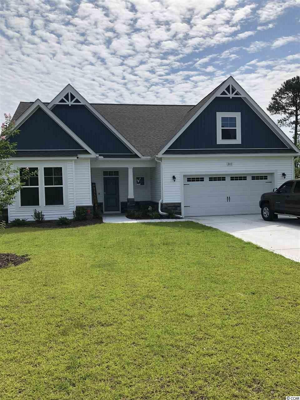 """Come see Astoria Park, Newest Natural Gas Community in South Carolina.  The Wrightsville can be built as a 1 or 2 story home and boasts a wide open floor plan with huge center island in kitchen with granite counter tops. 4 bedrooms, 3 baths backing up to the trees!  Pictures are representations of similar home built.  THE H&H ADVANTAGE Energy Saving Features • ecoSelectTM Certification • TRANE® 14 Seer Energy Efficient HVAC System with Variable Speed Air Handler & Programmable Thermostats • 95% Efficient Gas Furnace • HVAC Fresh Air Intake & Upgraded 80 CFM Bath Fans • 40 Gallon Gas Water Heater • Insulated & Weather Stripped Pull Down Attic Stairs/Plan Peace of Mind Features • 400 Point Quality Assurance Program conducted by an Experienced Third Party Licensed Home Inspector • 2-10 Home Buyer's Warranty & Online Service Requests • GEMS Great Expectation Management System • Taexx®: Built-in Pest Control System (*quarterly pest service not included) • Sentricon Termite Colony Elimination System (*first year semi-annual included) EXTERIOR FEATURES • 30 Year Architectural Shingles • Low Maintenance Vinyl Siding • Professional Landscaping Package with Sod to Front Corners of Home  • Kwikset Brushed Nickel Lockset with Deadbolts • Masonite® Fiberglass Insulated Front Door (per plan) • Vinyl, Low-E, Insulated Windows w/Panes Per Plan • 2 Exterior Hose Bibs & Electrical Receptacles • Aluminum Gutters with Splash Blocks Wrap the Home INTERIOR FEATURES Designer Kitchen • Granite Countertops with 8"""" Stainless Under Mount Sink • Cabinets: Staggered Height, Flat Panel  • Stainless Faucet w/pullout Spray • 1/3 Horse Power Disposal • Frigidaire Appliances: Stainless Steel, Smooth Top, Self-Cleaning Electric Range, Over the Range Microwave & Dishwasher INTERIOR FEATURES (continued) Flooring • Mohawk Mohawk 5"""" Bourbon Mill Laminate Floors in Foyer • Vinyl in all Baths and Laundry • Mohawk Carpet with 6 lb. pad Bathrooms • Garden Tub in Master Bath and Separate Walk in Fiberglass Sh"""