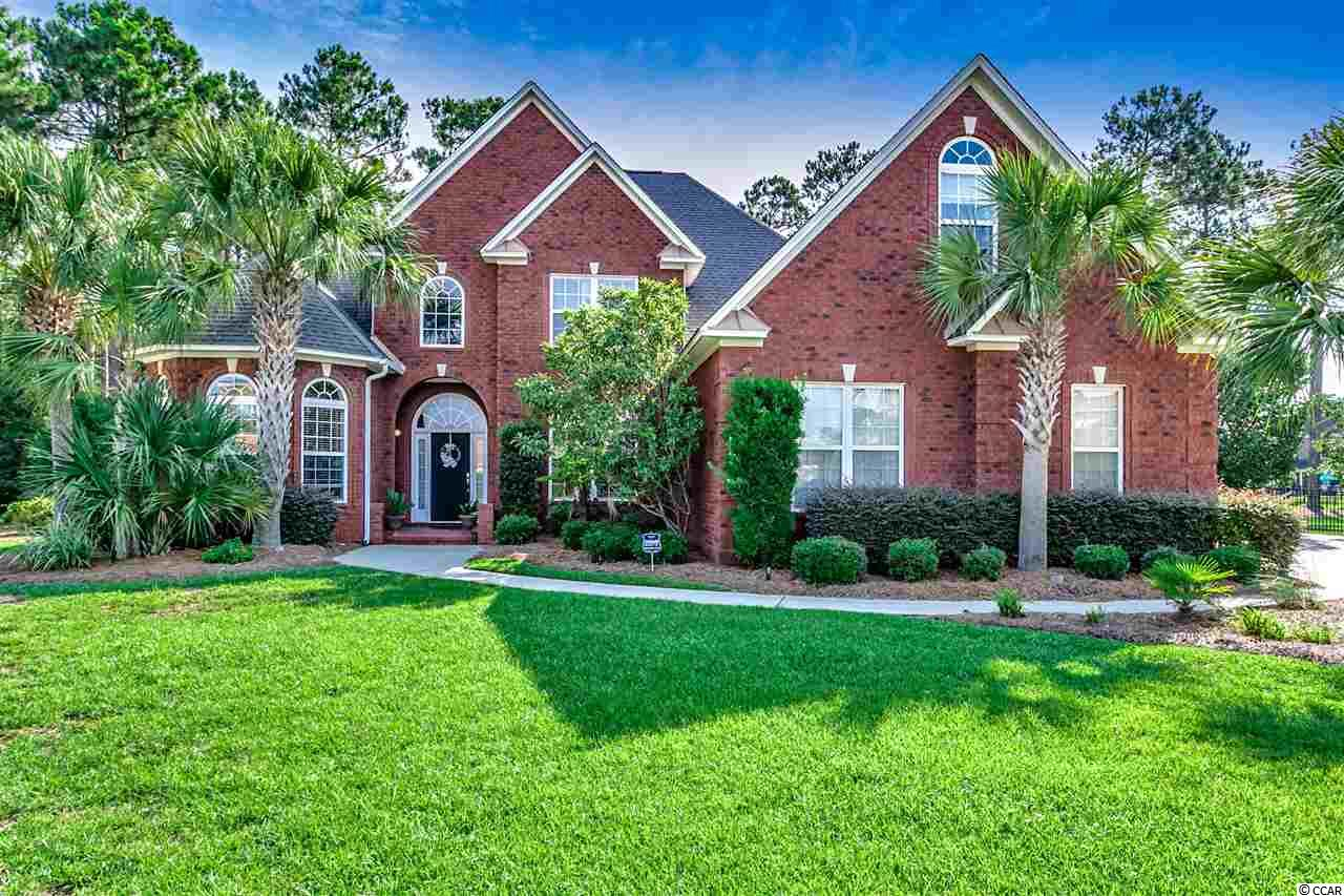 Unbelievable value in this all brick home located in one of Myrtle Beach's premier neighborhoods of Plantation Lakes. This traditional style home offers 5 bedrooms 3 full baths + a bonus room.  From the minute you enter the home you will notice the 2 story family room with stone accents around the fire place and foyer entry.  The 1st floor offers master bedroom with large office, guest bedroom with full bath. Large eat in kitchen with gas cook top, stainless appliances, custom cabinets and granite tops.  The second floor has 3 large  bedrooms + bonus room and jack and jill bath. The outdoor living area is to die for... Resort style 42' heated and cooled, saltwater, fiberglass pool with hot tub, custom built outdoor kitchen with Lion appliances (grill, cook top, sink)  and eat up granite top bar, built in wood burning fire pit with seating area, all of this on one of the largest wooded lots in Plantation Lakes. The whole property is fenced, irrigated and has LED out door lighting in the front and back yard. The last but not least is the oversized three car garage with professionally installed Slide Lock brand garage flooring, cabinets and wall slat organizational system.  This home will not last long! Call today to view!