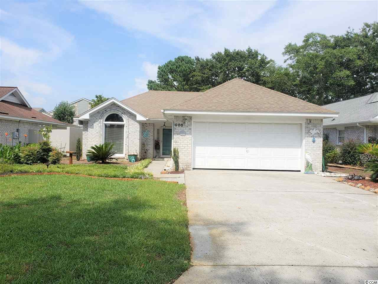 Beautifully maintained 2 bedroom 2 bathroom home in The Park. The Park community is centrally located in Myrtle Beach giving you easy access to shopping,hospitals, dining and the beach! This is a quiet community that is only a golf cart ride to the beach. All brick home with a private backyard with tall stucco walls. There are vaulted ceilings and skylights throughout the home which boasts a lot of natural light. Come check out this must see home in a unique community.