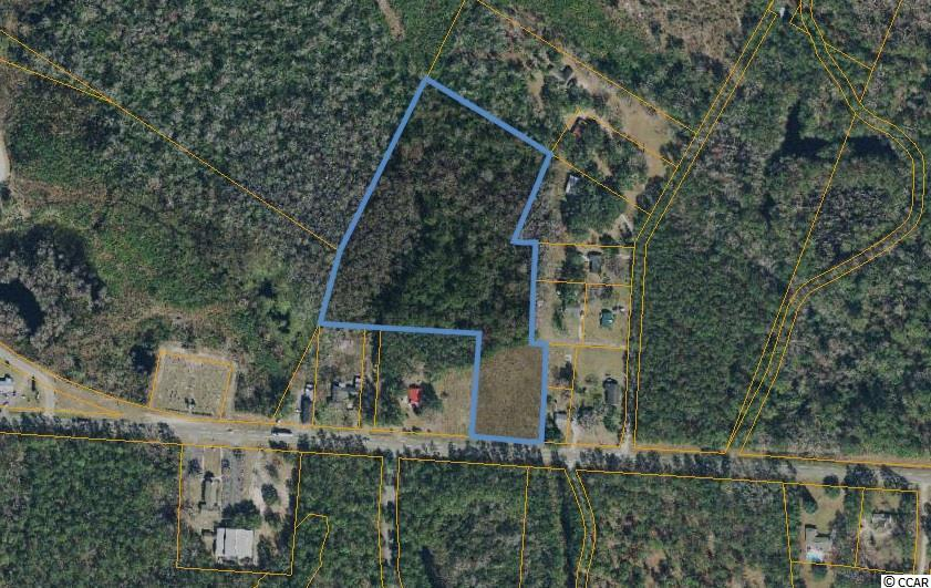 This is a great opportunity to own over 8.5 acres of land just off of desirable Hwy 90. Build your dream home just down the street from the beautiful Waccamaw River and minutes to Grand Strand Beaches! No HOA. Sign is on the property.
