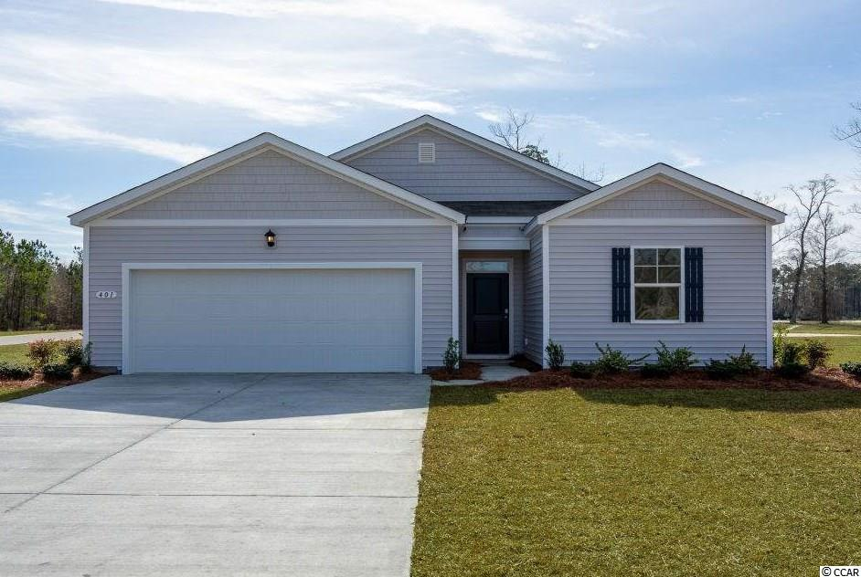 The Macon is a one level home with 3 BR 2 Bath, 1343 heated sq. ft. plus a 2-car garage with an open floor plan that features a comfortable kitchen with a huge counter/bar which opens to your large living/dining room.  Granite counters, pantry and stainless appliances. Low maintenance luxury floating vinyl wood plank floors throughout main living room, kitchen, both baths and the laundry room.  The owner's suite is located off the back of the home and offers a large walk-in-closet and Master Bath with 5 ft. walk-in shower, and cultured marble vanity top. Lochaven features large home sites with a minimum of 20 ft. of separation between homes. The community is located within minutes to Historic Downtown Conway, shopping, restaurants, and the River Walk. Pictures are of the same plan model home and are for illustration purposes only.   Home and community information, including pricing, included features, terms, availability and amenities, are subject to change and prior sale at any time without notice or obligation. Square footages are approximate. Pictures, photographs, colors, features, and sizes are for illustration purposes only and will vary from the homes as built.  Equal housing opportunity builder.
