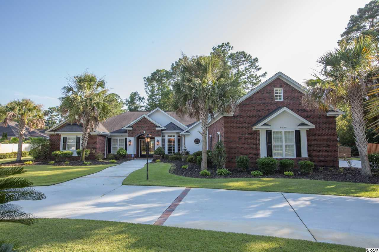 A rare opportunity to own a 4 bedroom, 4bath brick home with a bonus room over a 3 car garage on a 1/2 acre lot with no HOA and tucked away in this ocean side of Hwy 17 community! This sprawling home has everything you can want and then some. A fenced back yard that is just calling for a pool. A large master suite with fireplace, his-n-her closets, huge bath, double vanity, whirlpool tub and glass enclosed shower. Formal dining area, living room, family room and gathering room with fireplace just off the large eat in kitchen that features granite countertops, custom cabinetry, center island, pantry, all appliances included. A dream carolina room just off the rear of the home will knock your socks off! Three additional bedrooms, jack-n-jill bath and guest bath on ground level. Additional features; steam shower, 100 gallon propane tank that runs a generator that will run 2 fireplaces, master bedroom, bath, outlets in kitchen area, partial home AC, washer and garage doors. A whole house surge protector, protective film on rear window in Carolina room/family room, Well pump for irrigation, security cameras with playback, stereo speakers and receiver in most rooms, insulated garage and garage doors, mini-split HVAC in garage (2018), solar attic fan, solar tube in kitchen, circulating hot water system for all faucets, Carolina room mini-split 2018, commercial grade energy shield covering all house in attic, hardwood flooring.....WOW! Close to beaches, fitness centers, shopping, championship golf courses, restaurants. CALL TODAY TO SEE THIS FABULOUS HOME! Square footage is approximate and not guaranteed.  Buyer is responsible for verification.