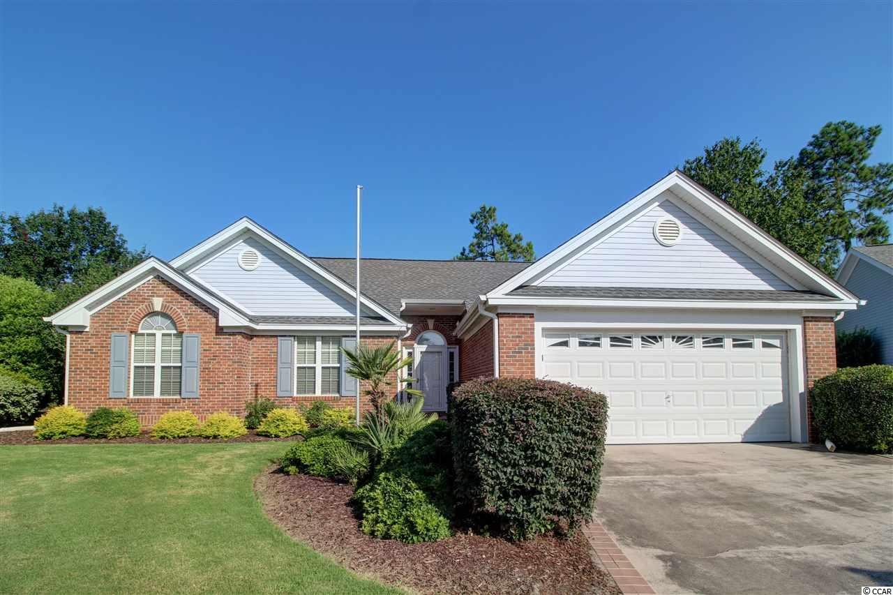 This move in ready home in Southcreek at Myrtle Beach National has so many upgrades and recent improvements. The roof was replaced in 2016 and the sun room roof was replaced in 2019. This home is brick and Hardiplank lap siding. The living room is spacious with a vaulted ceiling and flows into a Carolina room or flex space that is currently being used as a den/tv room. The kitchen has a new microwave and refrigerator, a great work island and breakfast bar, large breakfast nook and a walk in pantry.  This nook flows onto a sun room that overlooks an amazing backyard that is lush and private. The bathrooms have also been renovated.  The carpet was replaced 3 years ago, lighting fixtures were updated, and the kitchen cabinets were refinished. This home is located just 6 miles to Historic downtown Conway, 4 miles to Tanger Outlets, and 10 miles to Myrtle Beach International Airport.