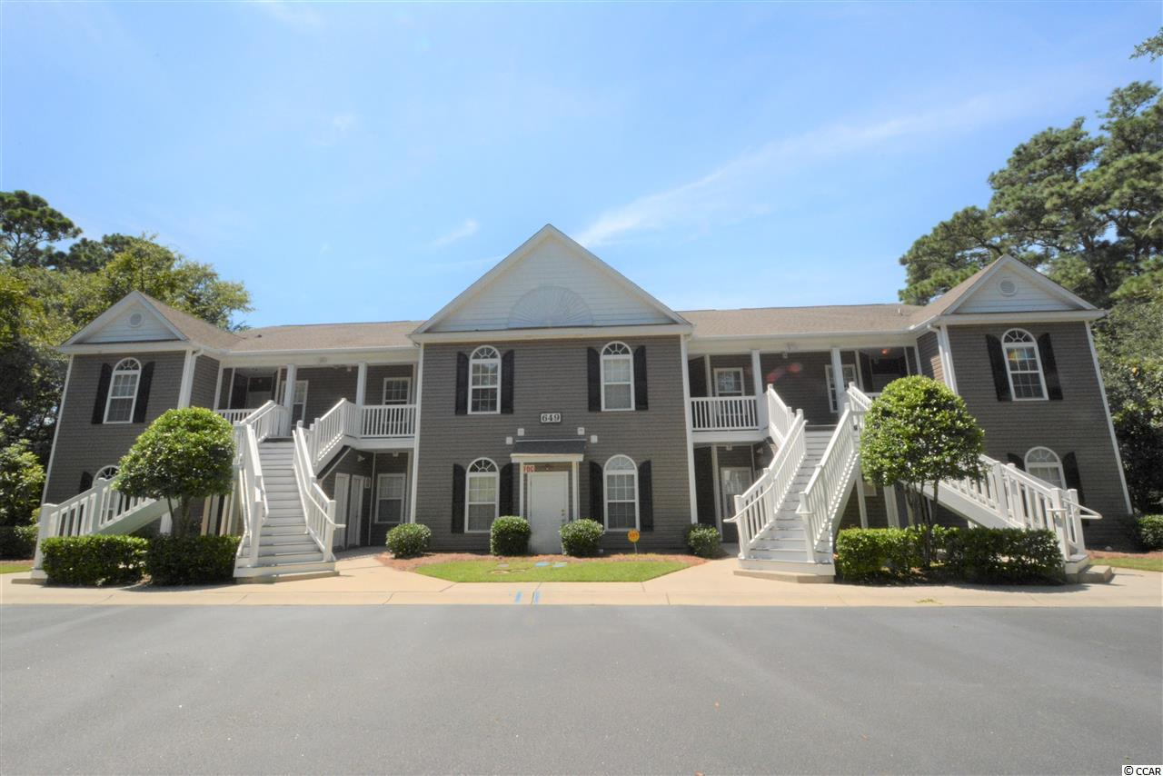 Looking for a nice, low maintenance, updated condo in Pawleys Island? This 3 BR 2 full bath unit features new flooring in the living area and bedrooms, freshly painted throughout, granite and stainless appliances in kitchen, and ceiling fans in each room. High ceilings in living area and master bedroom make it feel even more spacious. Relax on the screened porch and enjoy the quiet, tranquil views of 2 ponds with fountains. Conveniently located in the desirable Pawleys Island area,  Pawleys Pavilion offers a nice, wooded, gated community in a quiet setting away from the traffic.  Would make a great permanent residence or second home at the beach.  Neatly kept grounds adds to the beauty of the community.
