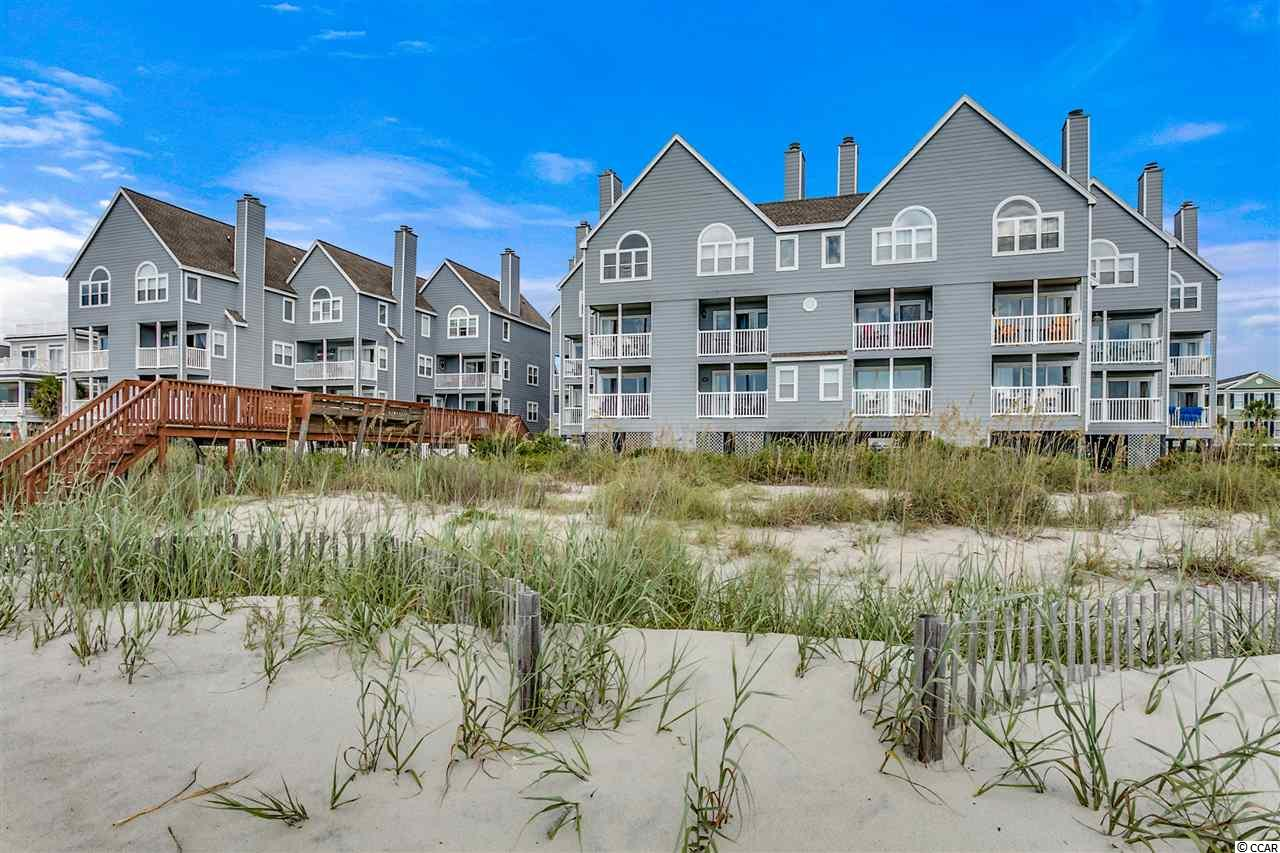 Closing scheduled for 10/4/19. 109 Cape Coddages I, is a direct oceanfront first floor, two-bedroom and two full bathroom, end unit condo with approximately 1035 heated square feet. The large oceanfront living room and dining areas lead to a private balcony featuring views of the beach and ocean. The remodeled kitchen features painted cabinets, quartz countertops, and stainless-steel appliances. Each bedroom has a ceiling fan and flat-screen television. The master bedroom is oceanfront with an ensuite bathroom and direct balcony access. This condo is turnkey furnished and ready to serve as your retreat at the beach. Cape Coddages I has 21 units and is a well maintained and managed complex offering each owner private ground level storage, a large oceanfront pool, and sundeck. Each unit has two parking spaces. Why rent when you can own your very own piece of the Grand Strand.