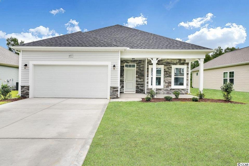 """Huge Incentives if can close by September 30th!! Move-In-Ready!!  The delightful Aurora home plan includes 2x6 exterior walls and offers a fabulous open home plan perfect for any family. The Spacious Family Room, with upgraded lighting, is great for entertaining.  The Master bedroom is open with a Bay window area overlooking the pond.  Enjoy Granite countertops in the Kitchen, Subway Tile backsplash, Painted Cabinets and an Upgraded Faucet as well as Stainless Range, Dishwasher and Microwave.  Beautiful 5"""" Laminate in the main living areas and Tile in the Baths and Laundry.   Relax and enjoy the view from the rear covered porch.  Forget yard work!  You can enjoy the free greens fees and the beautiful new pool at the clubhouse while we take care of cutting your grass. This neighborhood is selling fast, so don't miss out!"""