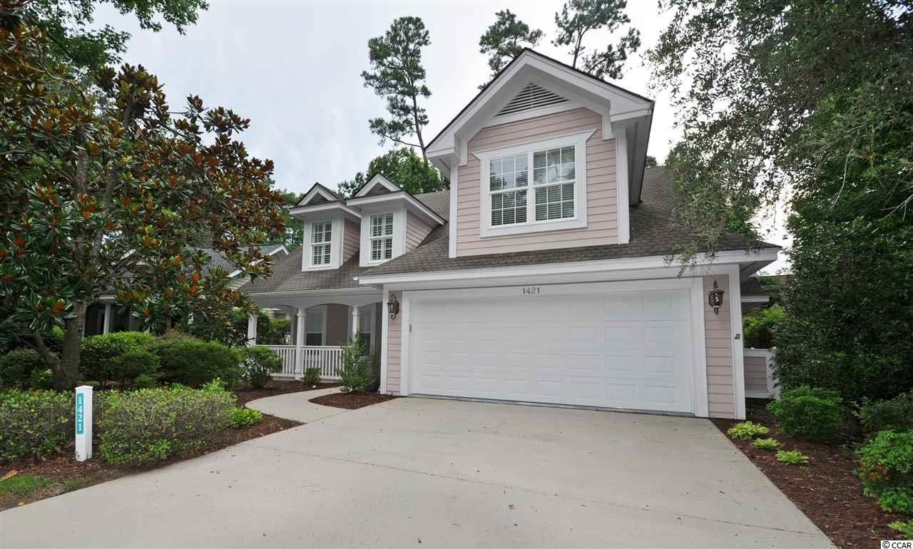 Unique & wonderful upscale details enhance this well-loved cottage-like home, surprisingly spacious with 3 - 4 bedrooms with over-sized master on the main level, along with one full en-suite-bath and a powder room for guests. This beautifully upgraded, charming, cozy and comfortable low-country-inspired home is in one of the signature Tidewater Plantation neighborhoods on iconic Lighthouse Drive. It is BIG luxury wrapped in a wonderfully livable, about 2,500 heated square feet of planned function space on one-living level and a thoughtful, generous upstairs bonus room/with 2 spacious bedrooms & a large full bath in a split-bedroom floor plan. A BIG wide drive leads to a double-car garage and to a great Southern-style porch with welcoming entry. Linger there with a front view of the 7th hole of world-class Tidewater Golf Course, or come on in to the heart of the home: breathtaking high-tech floors, large great-room with cathedral ceiling and FIREPLACE, lots of light and an adjoining magnificent kitchen and casual dining-gathering area, fun for a family or for entertaining. The layout is just perfect, too, kitchen to the left and laundry to the right toward the garage egress; sitting-area and morning room straight ahead; and split-bedroom, master-bedroom-private-enclave space past entry closets and guest bath to the right. The kitchen has a work island with breakfast bar and lots of cabinets and storage, including pantry. This Charleston-style house is kinetic and interesting, featuring a seamless transition from living/kitchen/dining-gathering space to the morning-Carolina-room and exit outside to the relaxing patio. The yard is nicely landscaped & manageable. The landscaping is robust -- indigenous flowers bloom front and back, ready for that secret garden. Come back inside, though, and check out ceilings, walls, shelving, sinks and doors. Surprises will astound you. The master suite has a spacious, customized closet, double sink vanity, tub, tray ceiling, large walk-in shower and pretty protected backyard view. There is even opportunity for a hot tub or soaking pool in the rear yard. Inside, airy fans, specialized touches and the unexpected in design and decor delight.  Do not miss a thing! This popular 3-4bd/2 1/2ba  home lives on a single level but with that unexpected guest/family huge bonus area upstairs!  Most appliances are newer; none the less, a full 12 months of coverage is offered with the top-of-the line Old Republic Platinum Home Warranty Plan with HVAC. The best of easy but luxurious beach living, this house is a rare find! With the proven value of Tidewater, this home is appealing for a permanent residence, vacation home or investment property. Amenity-rich Tidewater is on a tree-lined road to oceanfront Anne Tilghman Boyce Coastal Reserve, a nature conservancy, including Waties Island, with access for managed recreational use. Tidewater itself is on an elevated peninsula of live oaks and southern pines between the ICW and the Cherry Grove Inlet to the Atlantic Ocean. The plantation also preserves the singular look of its own historic origins. It is minutes from the beach, shopping, medical services, entertainment and access to major highways. Amenities include the jewel in the crown, an oceanfront beach cabana for owners' use with open/screened porches, bathrooms, showers, and kitchen. Residents enjoy the use of several pools/hot tubs. Other amenities include a driving range, golf shop, clubhouse with bar/dining and event facilities, clay and hard surface tennis courts, pickle ball court, fitness center overlooking a pool, bocce courts and amenity center for events. Tidewater is manned, gated & has a gated storage yard for boats, jet skis, motorcycles, and kayaks. Tidewater Resort reflects the luxury and comfort of a beach/golf lifestyle. And, in Tidewater, Big value often comes in surprising packages as well, such as this unforgettable cozy yet desirable cottage at one of the lowest prices in the community.