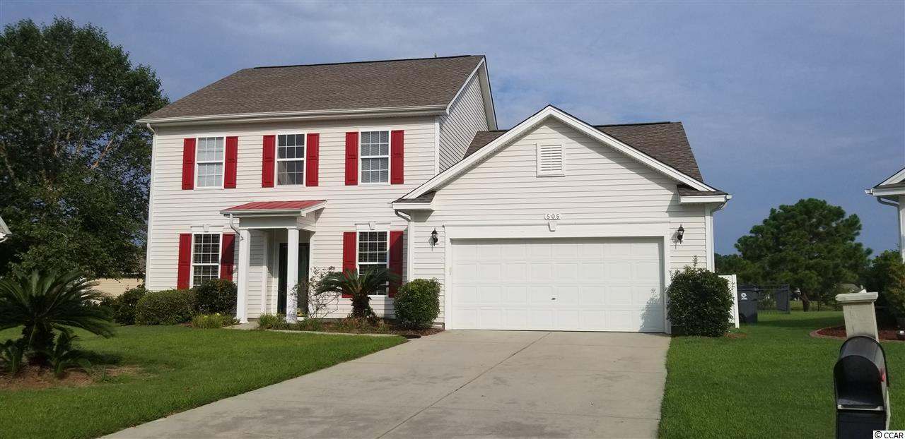 Well maintained 4 bedroom, 2 1/2 bath unfurnished home, located on a lake in Carriage Lake. This development is off Highway 90 in Little River. Open floor plan with large kitchen that looks into the high ceiling family room and has beautiful view of the lake. Tile floors in the kitchen with wonderful mosaic style artwork in the tile.  From the kitchen is door to screened porch, which leads to back deck and wonderful fenced in yard that overlooks the lake. Formal dining room that currently is being used for a pool table (pool table negotiable). Den located as you enter the front door. Stairs lead to 3 bedrooms and overlook the family room. The hot water heater is recirculating that provides constant hot water. There is upgraded duct work for HVAC.  Short distance to North Myrtle Beach Sports Complex and 31 and short drive to the beach and all the attractions of NMB and MB.