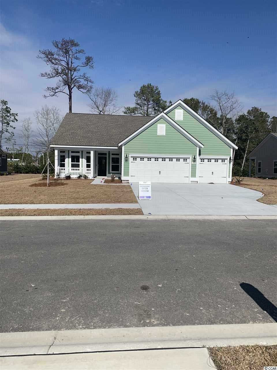 In partnership with Amazon, We are the first and only WiFi Certified Home Builder. Our Lexington plan offers a 3 car garage, single story open floor plan.  This home features, Hardiplank siding, granite counter tops, staggered kitchen cabinets, stainless steel appliances, tile backsplash, Shaw Laminate Flooring, rannai tankless water heater. Seabrook Plantation in North Myrtle Beach is a Natural Gas Community.  Seabrook Plantation located a mile from the beach.  Enjoy a golf car ride to the beach, shopping and to Main Street.  **Photos are of similar home in another community. Buyer responsible for verification of all measurements.**