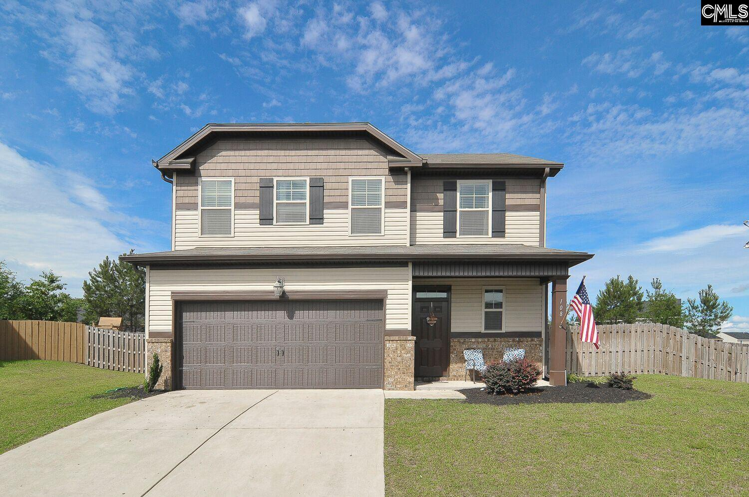 Immaculate 4 bedroom, 2.5 bath home located on a quiet cul de sac.  Covered patio and deck that overlooks a huge, fenced backyard.  Kitchen has crown molding, granite counter tops, tile back splash, stainless appliances, and custom shelving in pantry.  Great room has gas fireplace and large windows. Spacious laundry room on main level has built-in shelving. Large master bedroom with tray ceiling and on suite Master bath with double vanity, granite counter tops, separate shower and garden tub. Home has sprinklers and full gutters. Close to I20, restaurants and shopping. Award winning Lexington One schools. Like new in condition.  Built by Wilson Parker Homes in 2014.