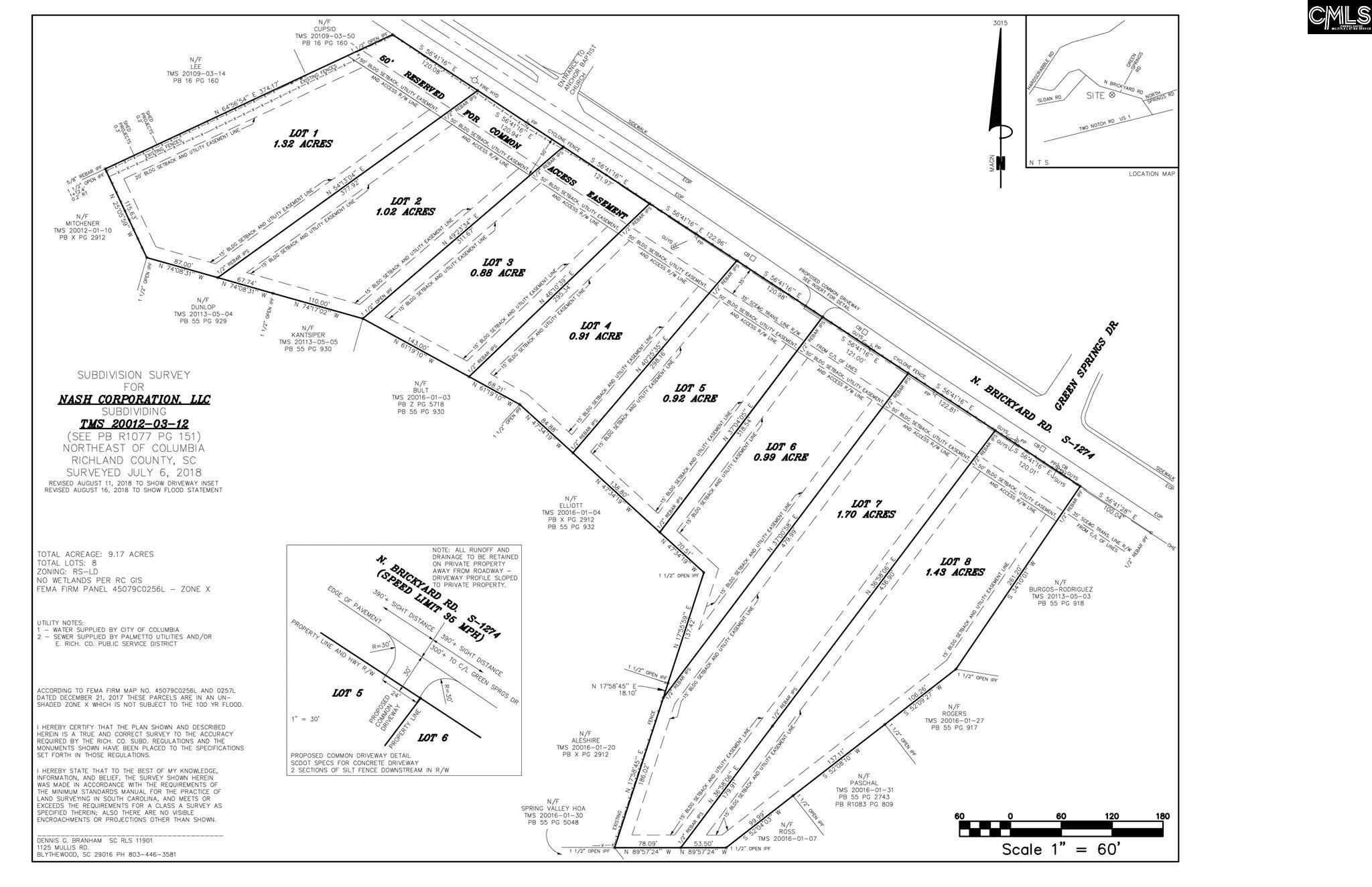 333 N Brickyard Rd. Columbia, SC 29223