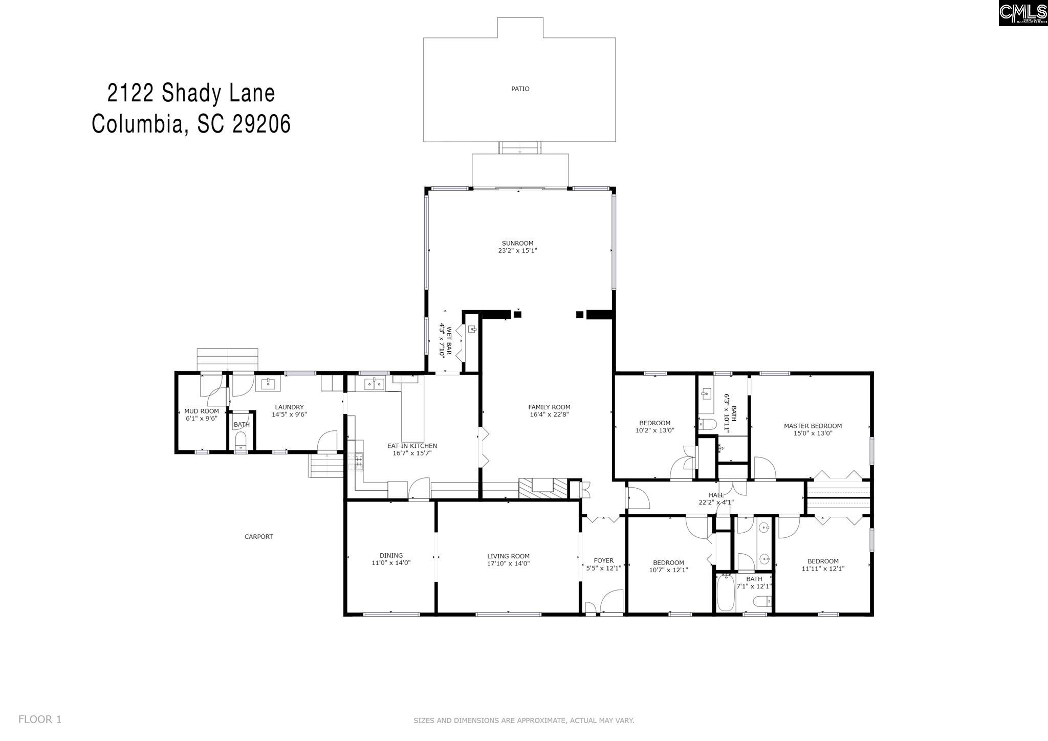 2122 Shady Columbia, SC 29206
