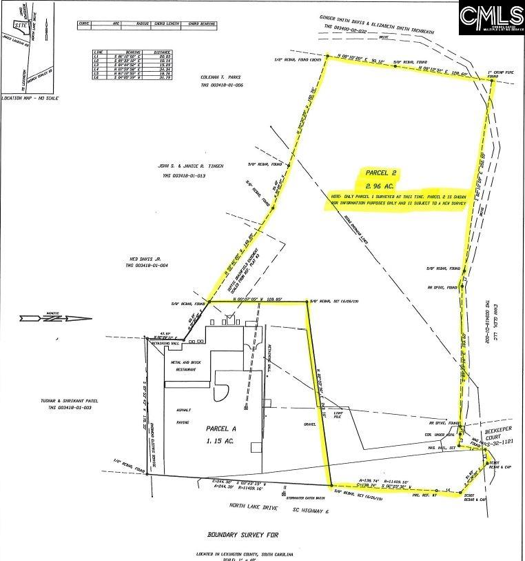 +/- 2.96 Acres of Prime Commercial land located on North Lake Drive with approximately 138 ft of road frontage.  Property is a 1 minute drive to the dam on Lake Murray! Traffic count in 2018 was 26,200 vehicles per day. Water and sewer available.  Close proximity to downtown Lexington and convenient access to Interstates 20 & 26. This site gets excellent exposure and is the perfect location for your business!