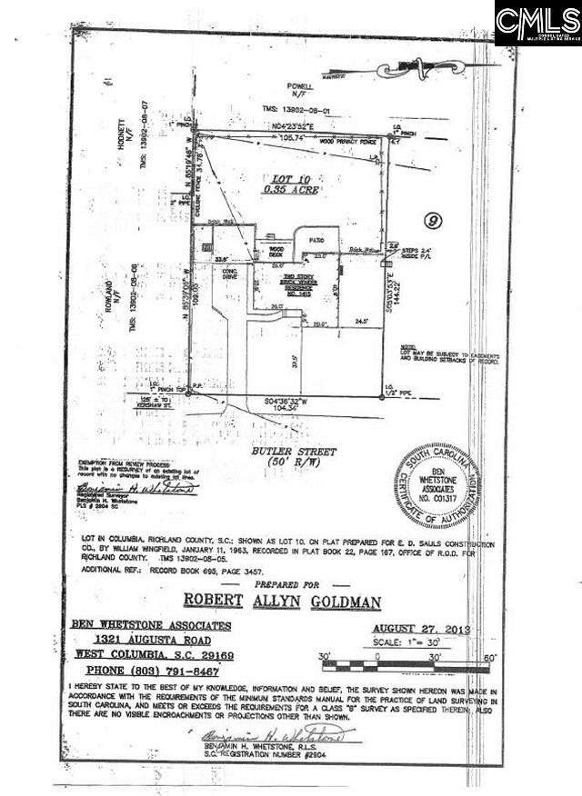1415 Butler Street Columbia, SC 29205