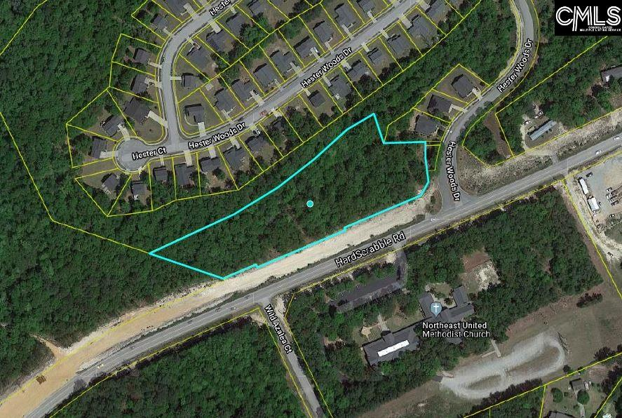 +/- 3.3 prime commercial acres on Hard Scrabble Rd at the entrance to the Hester Woods subdivision. Zoned RM-HD.  2020 Traffic Count shows 16,900 VPD.